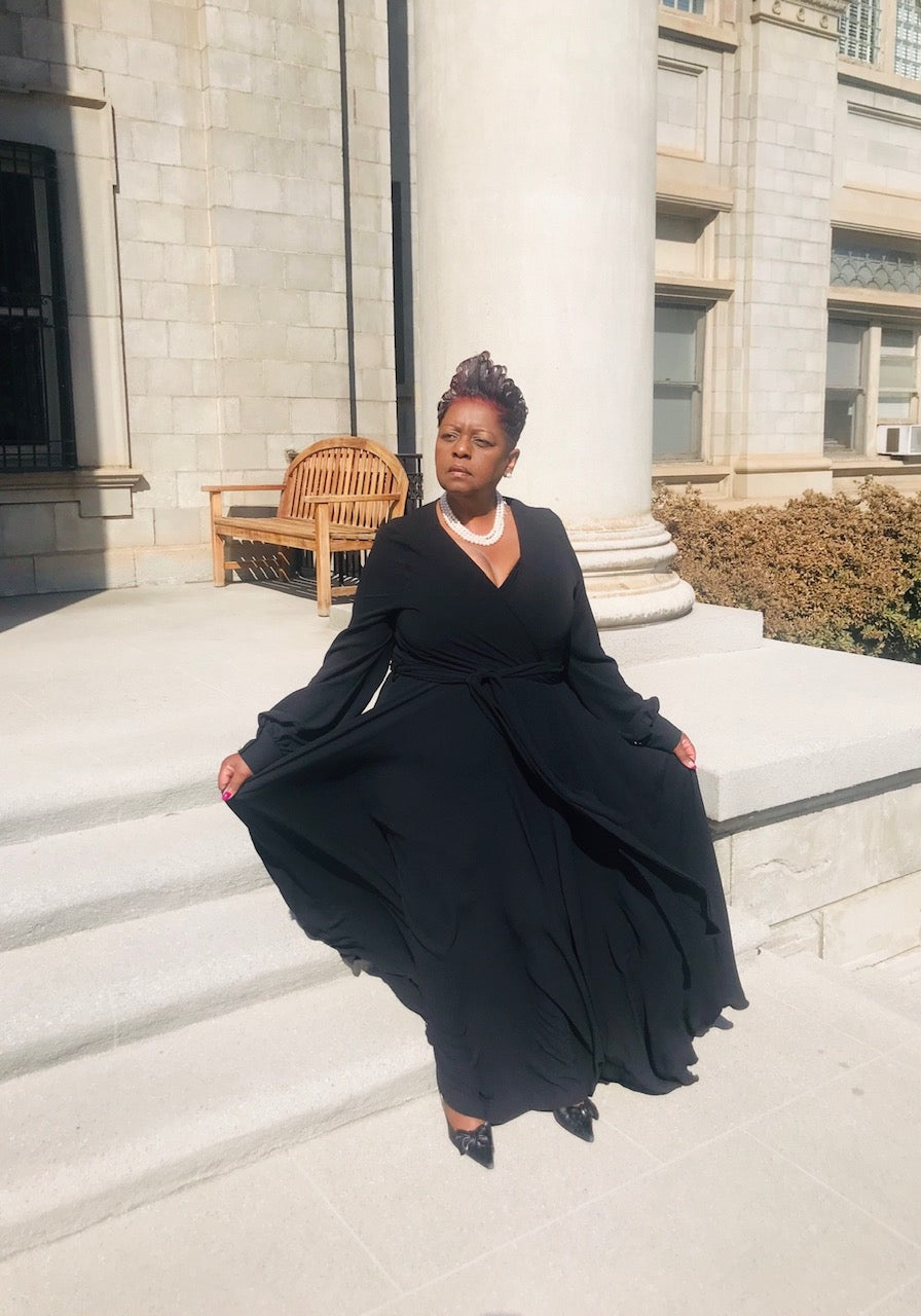 The Classy Flowy Black Maxi - Shirley Girl Boutique