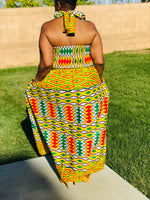 Load image into Gallery viewer, The Diva Kente Maxi Sundress - Shirley Girl Boutique
