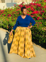 Load image into Gallery viewer, Queen Ada Full Length Maxi Skirt With Matching Handbag and Head Wrap - Shirley Girl Boutique
