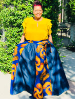 Load image into Gallery viewer, Denim Swirl African Print Maxi - Shirley Girl Boutique