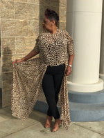 Load image into Gallery viewer, Cheetah Print  Open Maxi - Shirley Girl Boutique