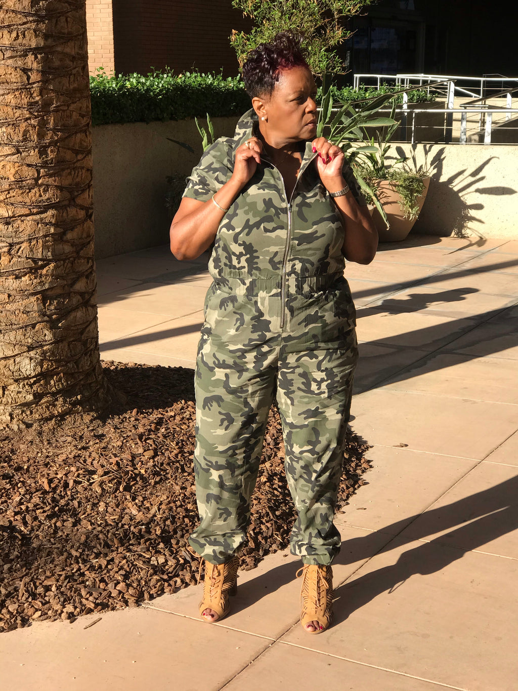 Trinity Camouflage Jumpsuit 15% Off - Shirley Girl Boutique