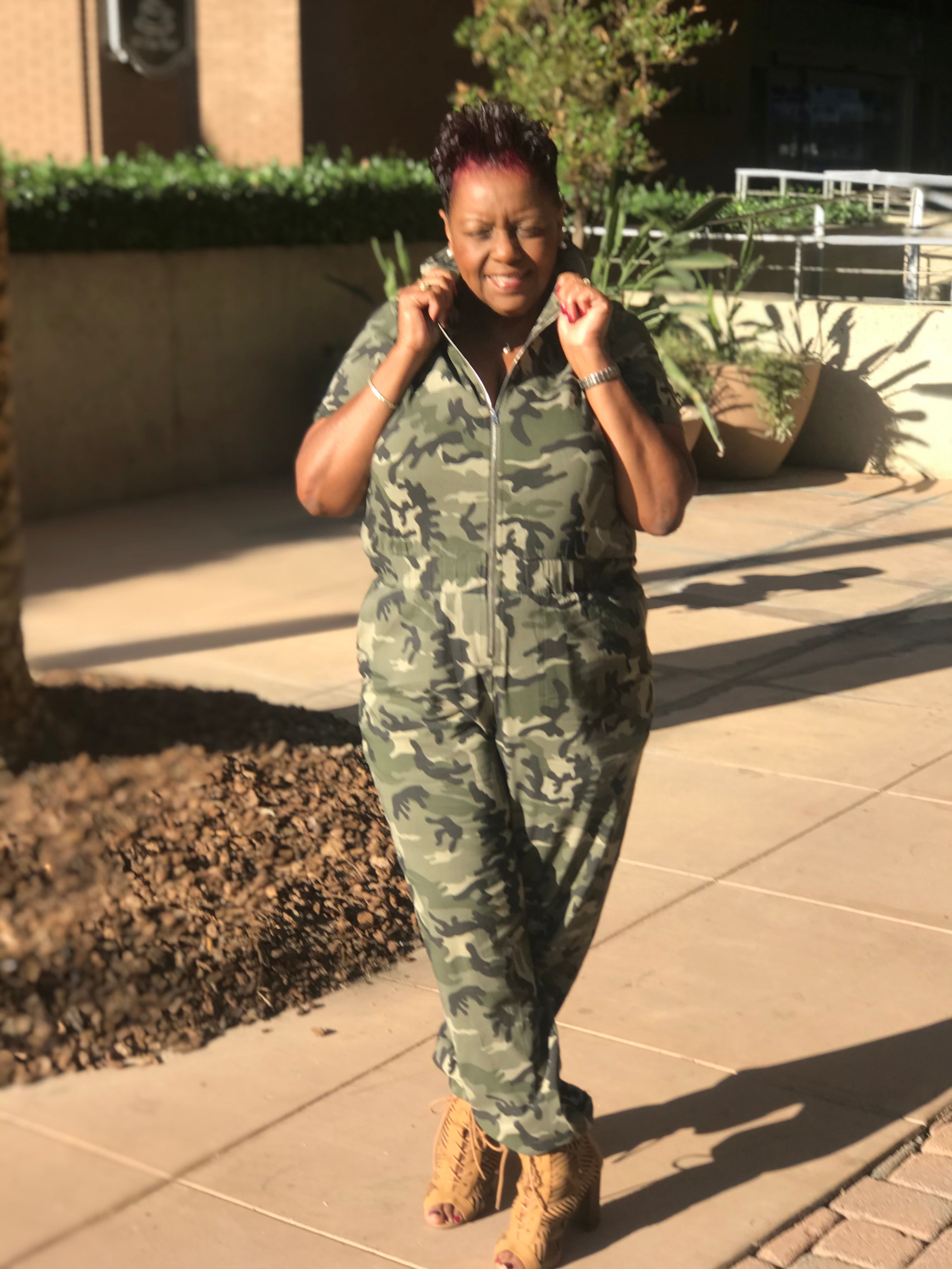 Trinity Camouflage Jumpsuit - Shirley Girl Boutique
