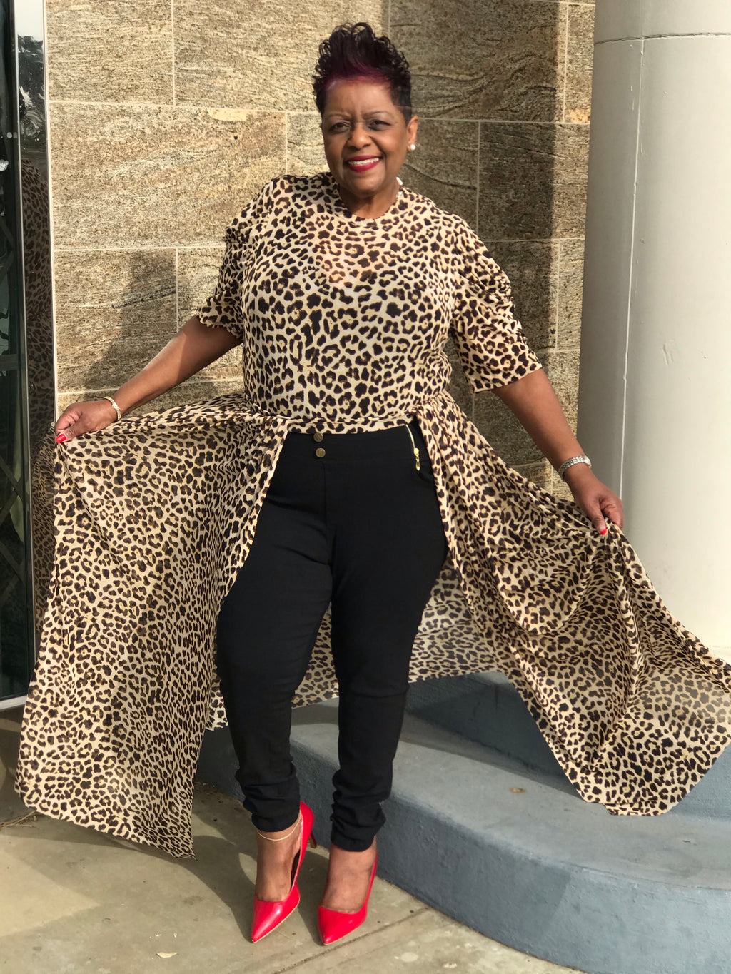 Cheetah Print  Open Maxi - Shirley Girl Boutique