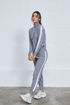 Gaia Stripe Lounge Set - Grey