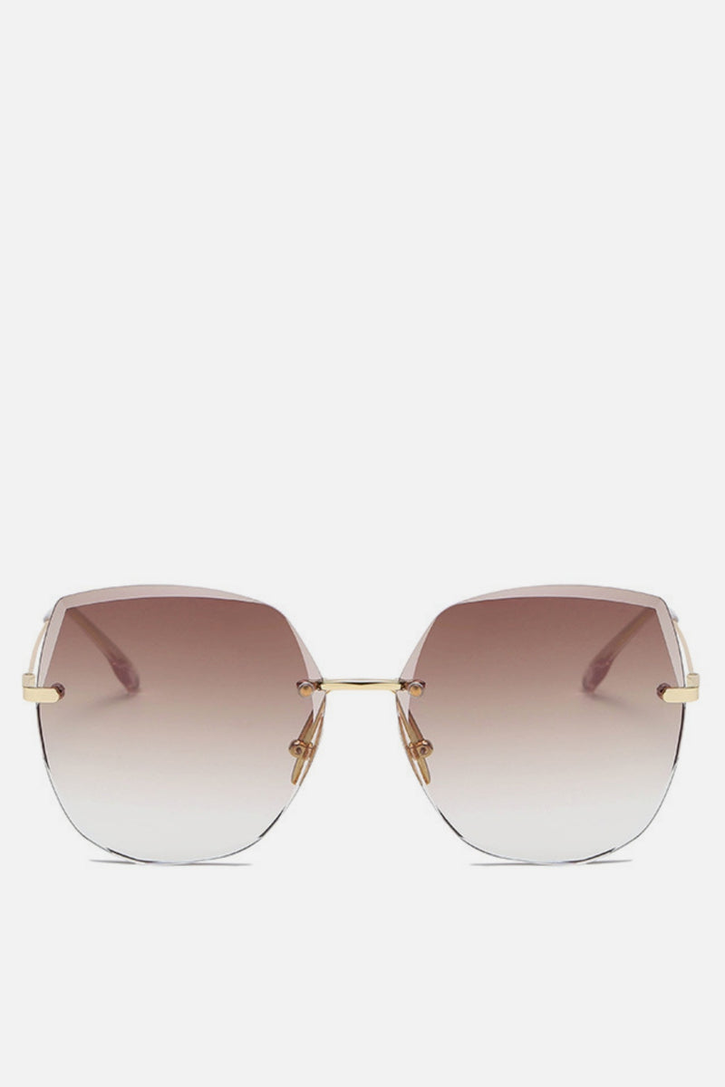 Valencia Brown Oversized Square Aviators - noughts&kisses