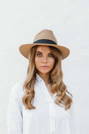 Brown Stetson Hat - noughts&kisses