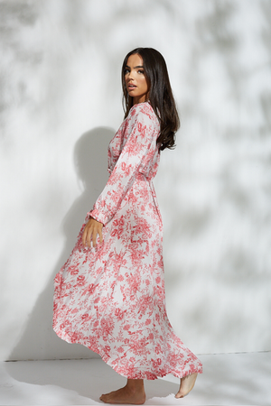 Zinna Pink Maxi Dress - noughts&kisses