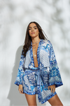 Sara Blue Mini Robe - noughts&kisses