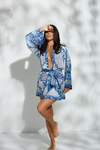 Sara Blue Mini Robe - PRE ORDER - noughts&kisses