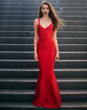 Load image into Gallery viewer, Gigi Red Mermaid Maxi Dress