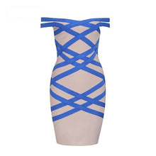 Load image into Gallery viewer, Off The Shoulder Bandage Dress