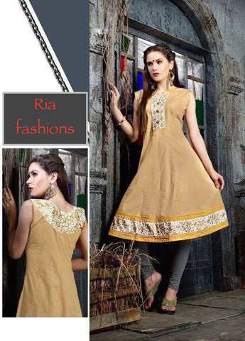 Beige Embroidered Tunic-www.riafashions.com