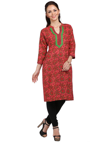 Printed Knee Length Cotton Tunic-www.riafashions.com
