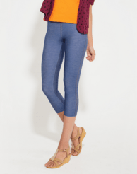 Leggings - 3/4 th - Light Blue Denim-www.riafashions.com