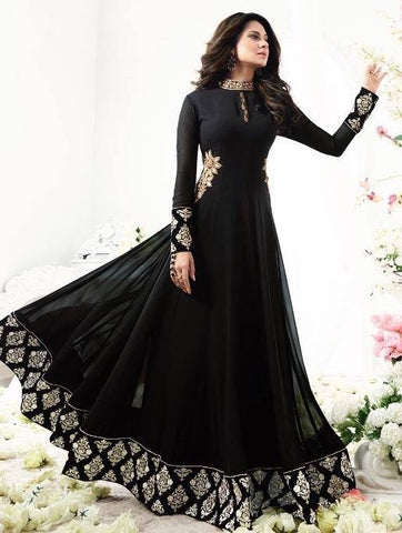 Black Anarkali Salwar Set-www.riafashions.com