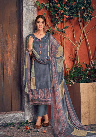 Aegean Blue Colour Make to Order Salwar Suit Set