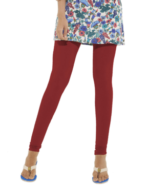 Leggings - Churidar - Brick Red-www.riafashions.com