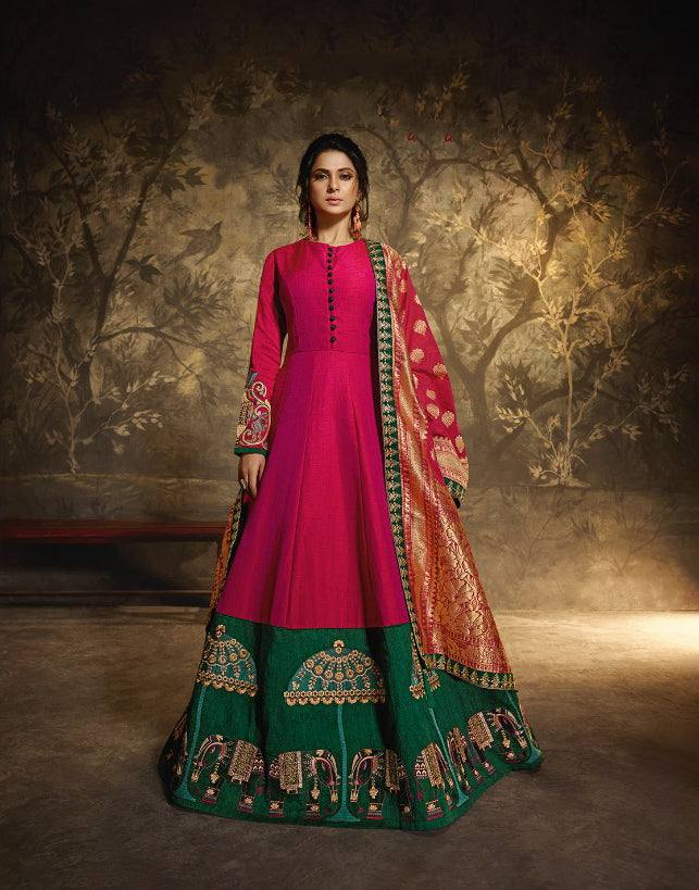 Pink Make to Order Salwar Gown