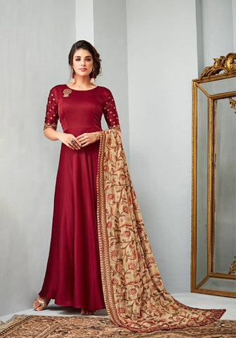 Red Make to Order Salwar Suit
