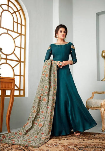 Blue Make to Order Salwar Suit