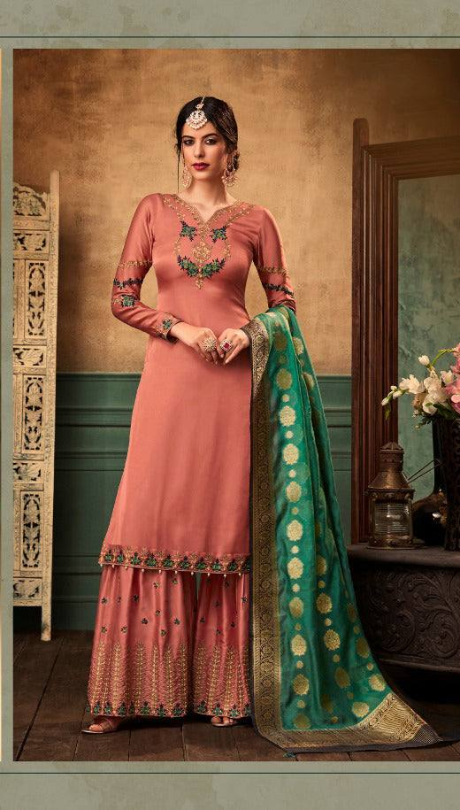 Peach Make to Order Salwar Suit
