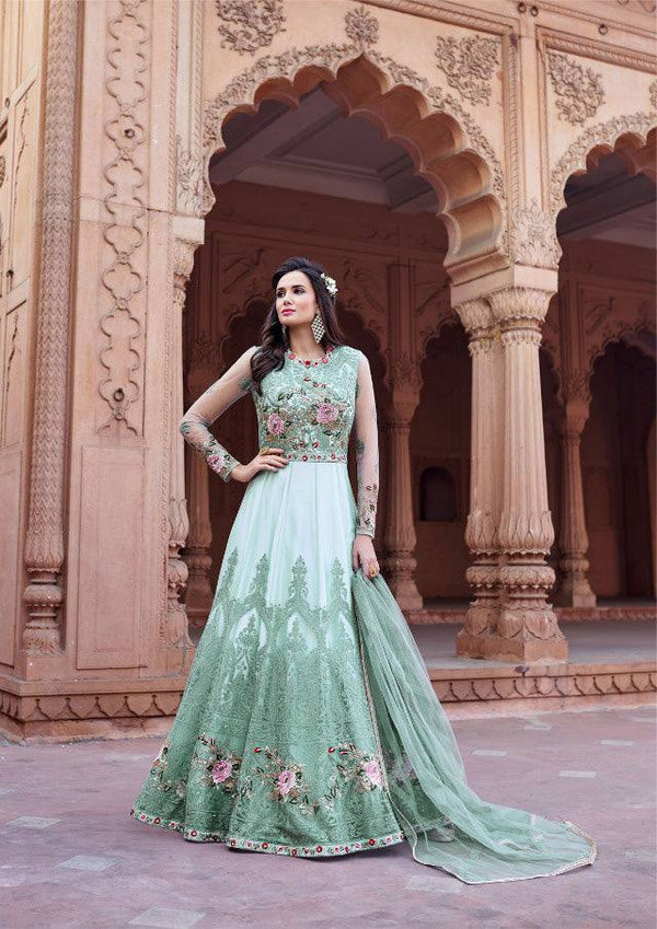 Sea Green Colour Make to Order Salwar Suit