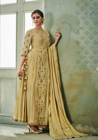 Cream Embroidered Salwar Suit-www.riafashions.com