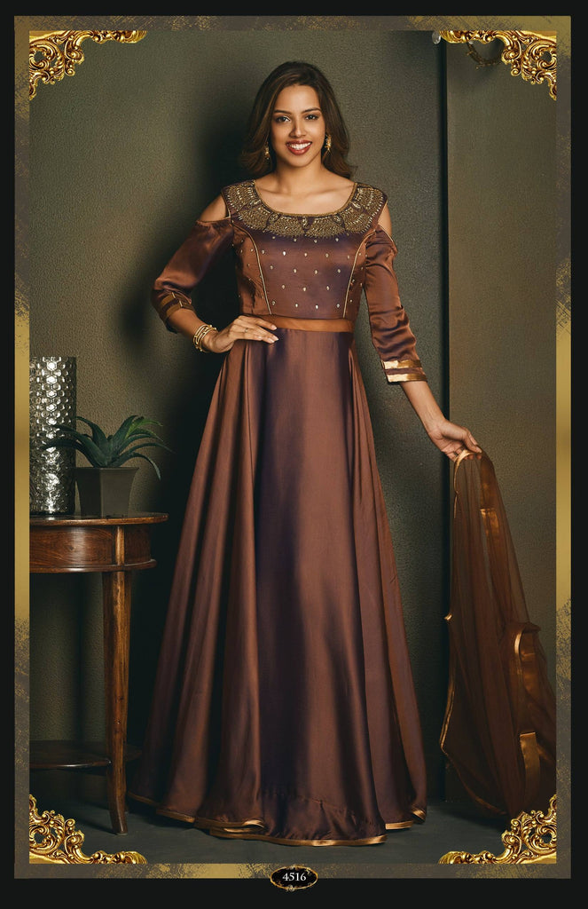 Anarkali Suit with embroidery.-www.riafashions.com