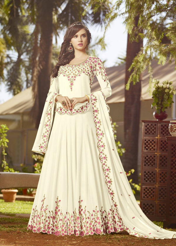 White Color Make to Order Salwar Suit Set