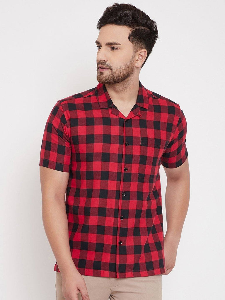 Checked Red Casual Shirt - www.riafashions.com