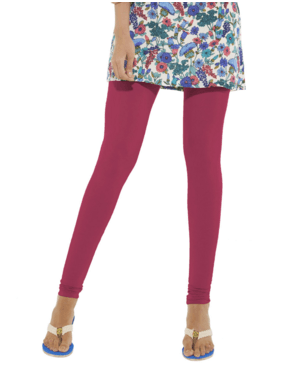 Leggings - Churidar - Dark Pink-www.riafashions.com