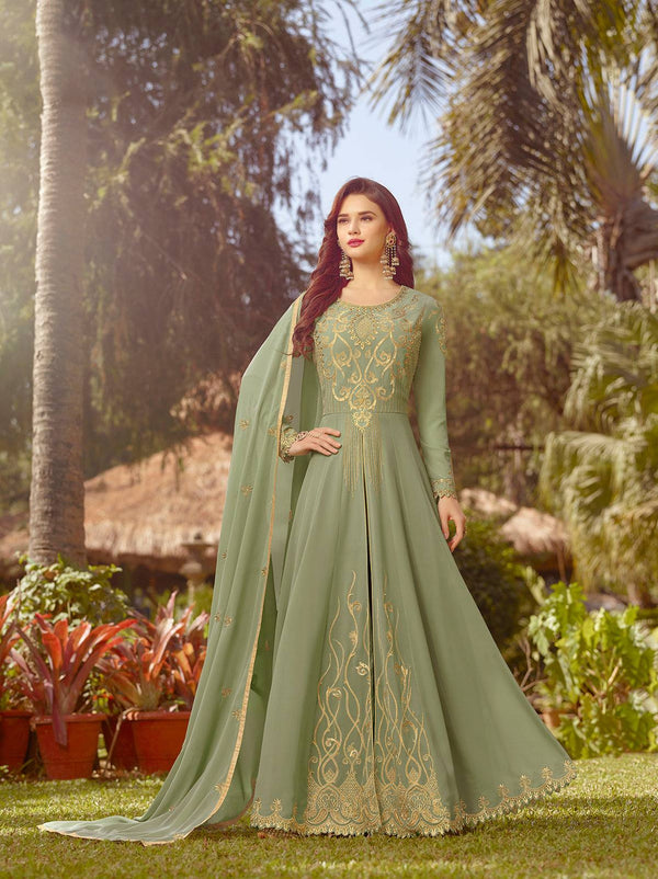 Sea Green Make to Order Salwar Suit