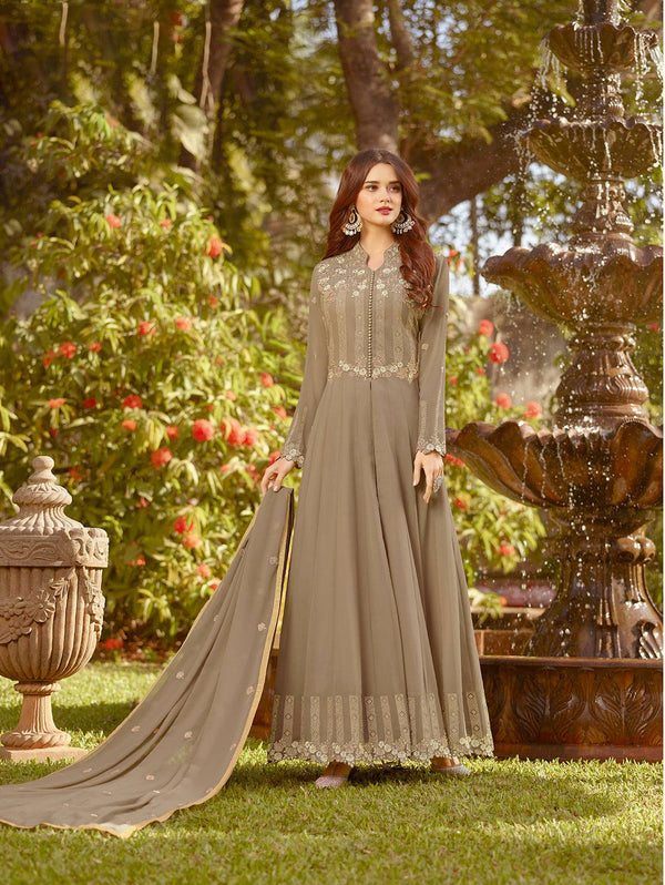 Brown Make to Order Salwar Suit