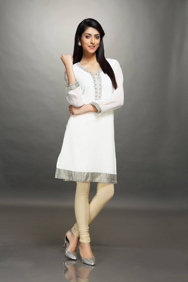 Cream Georgette Tunic