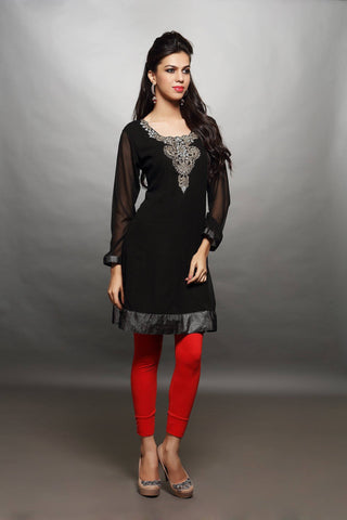 Black Georgette Tunic