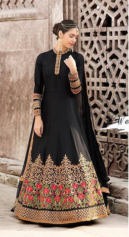 Black Colour Make to Order Salwar Suit