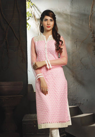 Georgette Embroidered Kurta-www.riafashions.com