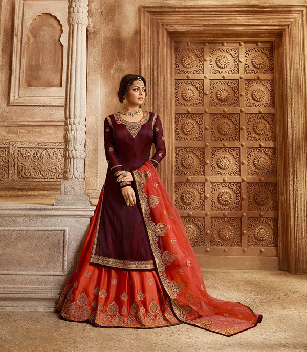 Wine Colour Make to Order Salwar Suit
