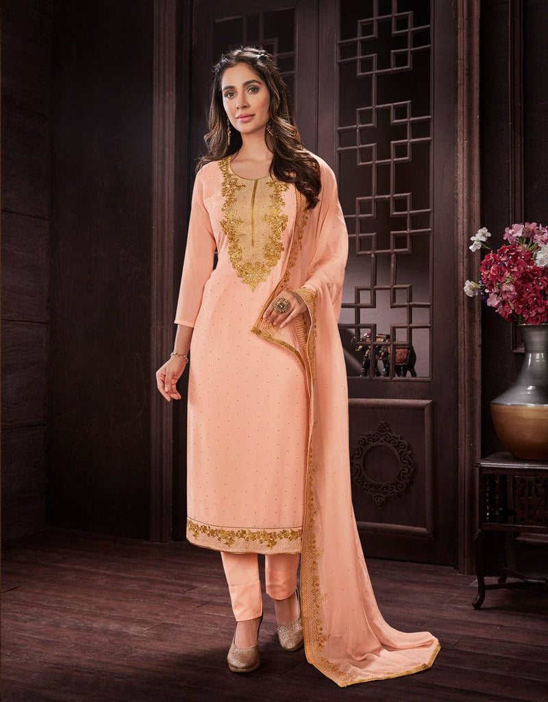 Light Pink Embroidered Salwar Suit-www.riafashions.com