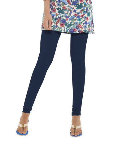 Leggings - Churidar - NavyBlue-www.riafashions.com
