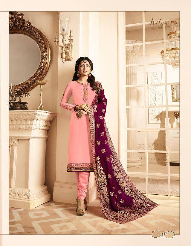 Pink Make to Order Salwar Suit