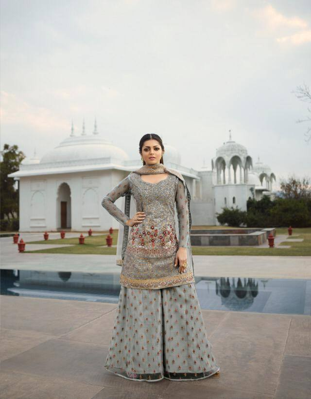 Grey Colour Make to Order Salwar Suit - www.riafashions.com