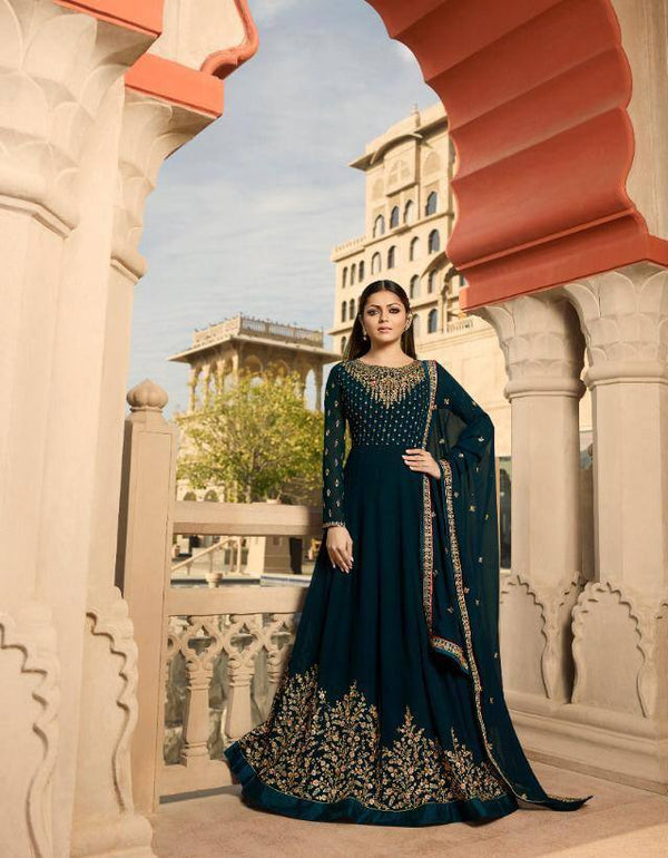 Dark Green Colour Make to Order Salwar Suit