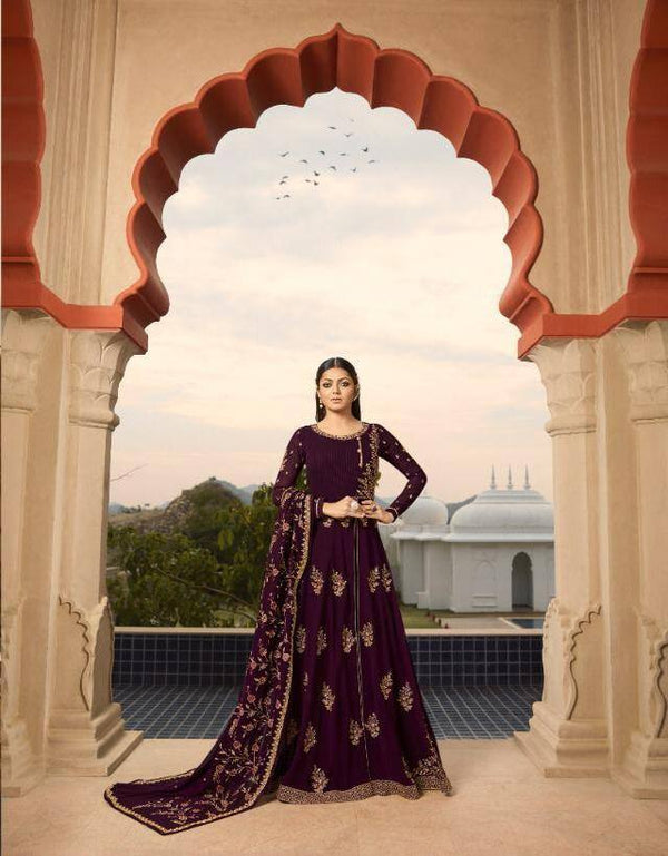 Violet Colour Make to Order Salwar Suit