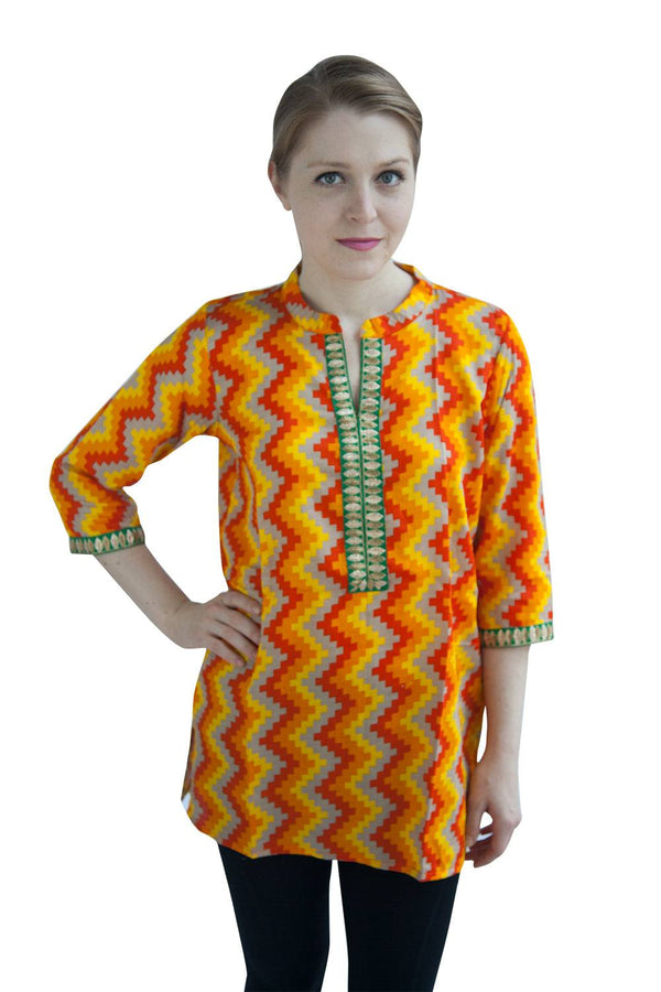 Embroidered Cotton Tunic/Kurta-www.riafashions.com