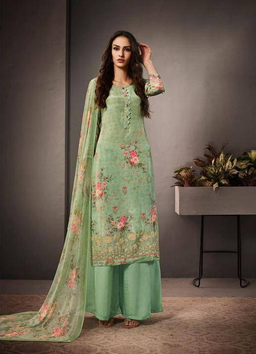 Turquoise Colour Make to Order Salwar Suit