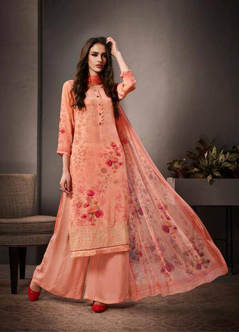 Peach Colour Make to Order Salwar Suit