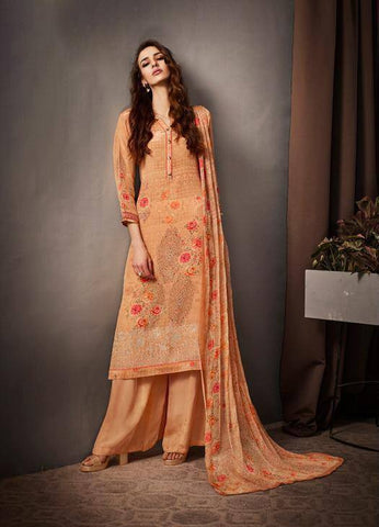 Orange Colour Make to Order Salwar Suit