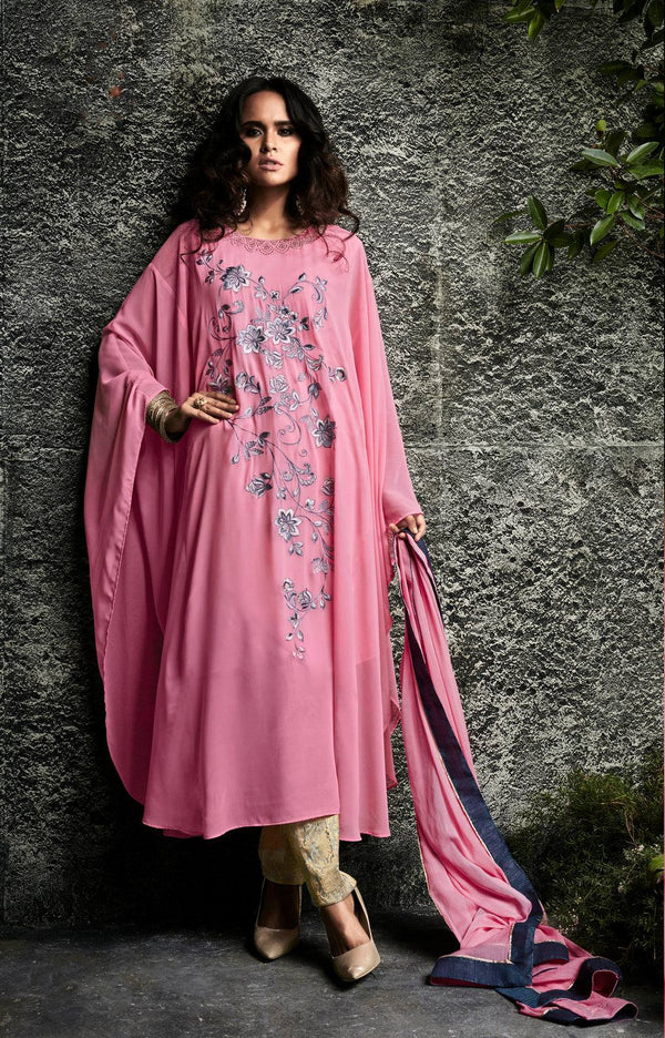 Pink Embroidered Suit Set-www.riafashions.com